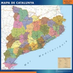 poster mapa cataluña