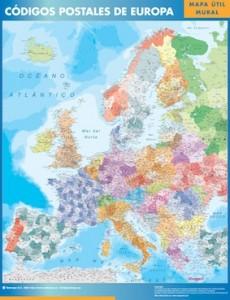 poster europa mapa códigos postales