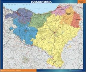 poster mapa euskal herria