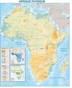 poster mapa africa fisica