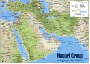 poster Mapa Oriente Medio