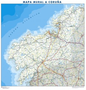 poster Mapa A Coruña