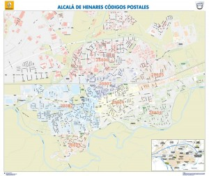 poster Mapa Alcala de Henares