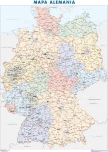 poster mapa alemania
