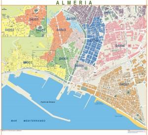poster Mapa Almería