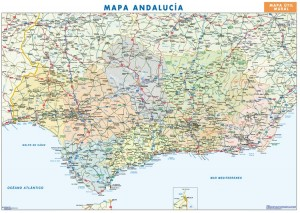 poster Mapa Andalucia
