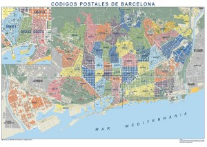 poster mapa barcelona