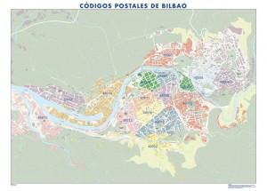 poster Mapa Bilbao