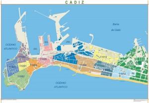 poster Mapa Cadiz