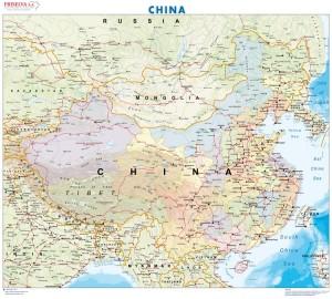 poster mapa de china