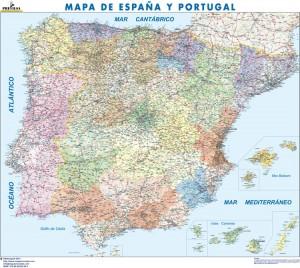 poster Mapa España Politico