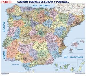 poster Mapa España Codigos Postales