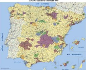 poster Mapa España DO Vinos