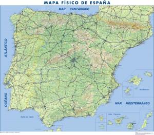 poster Mapa España Fisico