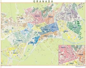 poster Mapa Granada
