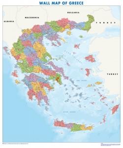 poster mapa grecia