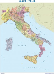 poster Mapa de italia