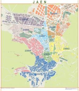 poster Mapa Jaen