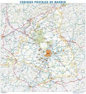 poster Mapa Madrid Provincia