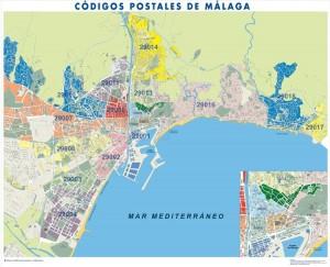 poster Mapa Malaga