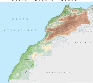 poster mapa de marruecos