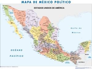 poster Mapa Mexico