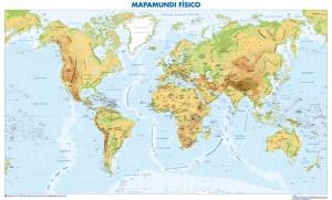 poster mapa mundo fisico