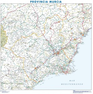 poster Mapa Murcia