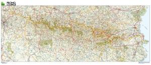 poster Mapa Pirineos