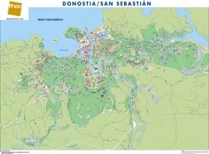 poster Mapa Donostia/San Sebastian