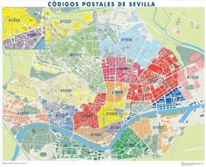 poster Mapa Sevilla