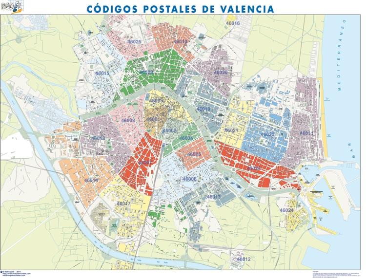 Valencia Mapas Gigantes De Pared