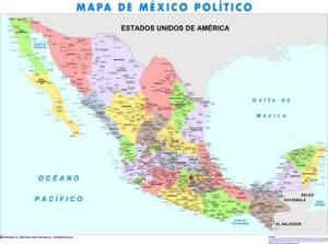 poster mapa mexico gigante