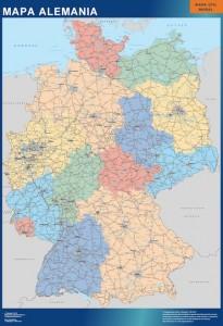 poster mapa alemania carreteras