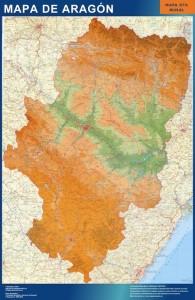 poster mapa aragon mural