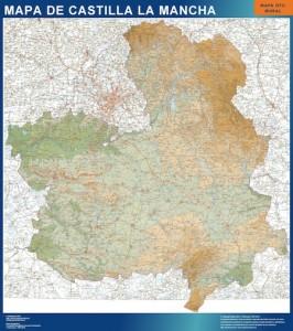 poster mapa castilla la mancha mural