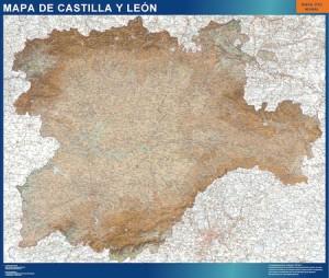poster mapa mural castilla y leon
