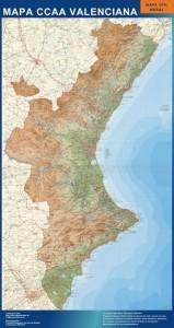 poster mapa comunidad valenciana mural