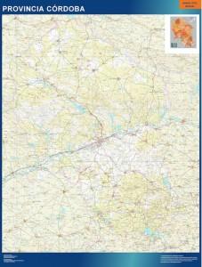 poster Cordoba mapa carreteras