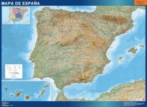 poster mapa españa carreteras