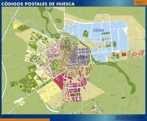 poster huesca mapa códigos postales