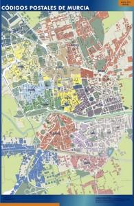 poster murcia mapa códigos postales