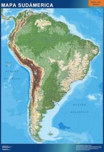 poster sudamerica mapa mural