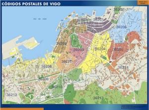 poster Vigo mapa códigos postales
