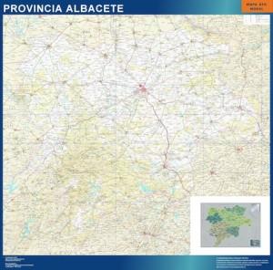 poster Albacete mapa carreteras