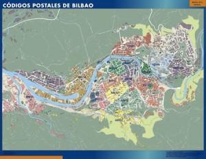 poster Bilbao mapa códigos postales