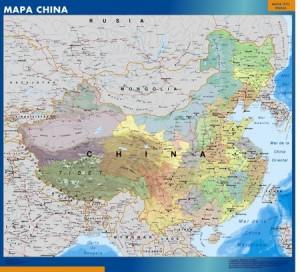 poster Mapa China mural