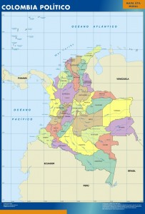 poster colombia mapa mural