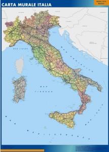 poster Italia mapa mural