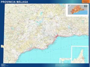 poster Malaga mapa carreteras